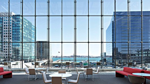 101seaport overlooking the skyline and offering prime Boston office space